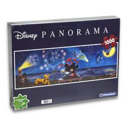 Clementoni® Steckpuzzle Disney - Minnie & Micky Panorama Puzzle (1000 Teile), 1000 Puzzleteile blau