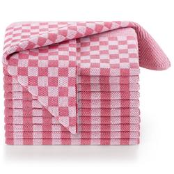 Blumtal Geschirrtuch Hochwertige Geschirrhandtücher, 100% Baumwolle, 50x70cm, (Set, 10-tlg., Set bestehend aus 5, 10 oder 20 Geschirrtücher) rot
