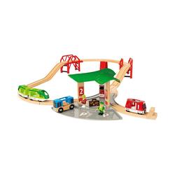 BRIO® Spielzeugeisenbahn-Set BRIO Reisezug Set mit Busbahnhof