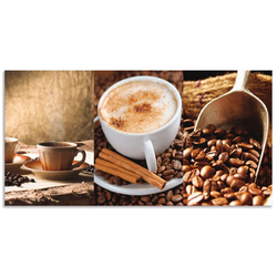 Artland Küchenrückwand Kaffee - Cappuccino - Heißer Kaffee, (1-tlg) 110 cm x 55 cm x 0,3 cm