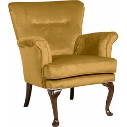 Max Winzer® Sessel Barbie, im Barockstil, mit Ziernagelband gelb