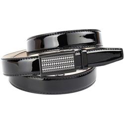 Anthoni Crown Ledergürtel, Schmaler Business-Lackledergürtel schwarz Damen Ledergürtel Gürtel Accessoires