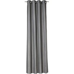 Gardine allover, Joop!, Ösen (1 Stück), Blickdichter Stoff, HxB: 250x140 cm grau