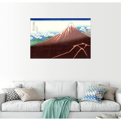 Posterlounge Wandbild, Der Fuji über einem Blitzeinschlag 30 cm x 20 cm