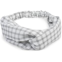 styleBREAKER Haarband Haarband mit Karo Muster und Twist Knoten, 1-tlg., Haarband mit Karo Muster und Twist Knoten grau