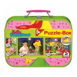 Schmidt Spiele Puzzle Bibi Blocksberg Puzzle-Box, Metallkoffer 4 Puzzle, 320 Puzzleteile