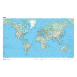 KuF Welt physikalisch 1 : 50 000 000. Planokarte