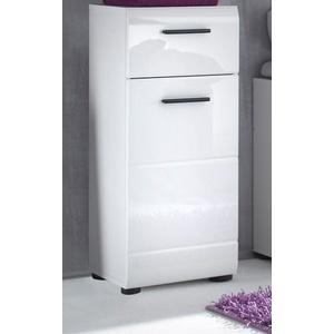 Badschrank Unterschrank weiß Hochglanz Kommode Bad Badezimmer Möbel Skin 30 x 80