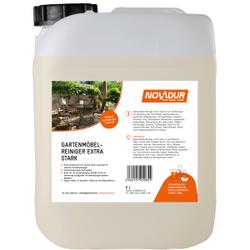 NOVADUR Gartenmöbelreiniger extra stark, Kraftreiniger zur Reinigung aller Kunststoffe, 5 l - Kanister