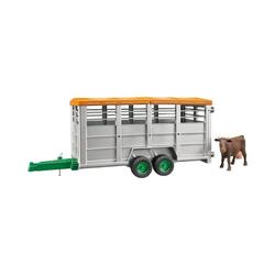 Bruder® Spielzeug-Auto Viehtransportanhänger mit 1 Kuh