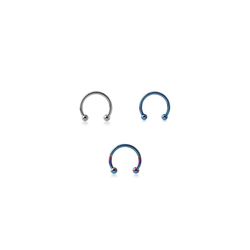 BodyJewel Piercing-Set Circular Barbell, 3-teilig, Titan