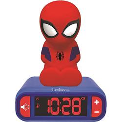 3D Spiderman Design Nachtlicht Digital Radiowecker schwarz/rot