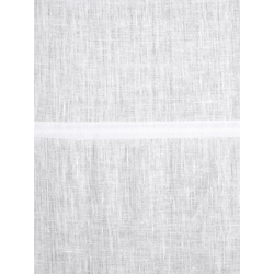 Raffrollo aus Leinen weiß ca. 140/80 cm