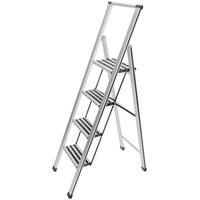 WENKO Alu-Design Klapptrittleiter 4 Stufen