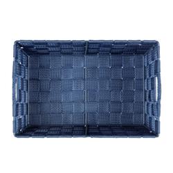 WENKO Adria Aufbewahrungskorb, dunkelblau, Aufbewahrungsbox für das Bad und den gesamten Haushalt, Maße (B x H x T): 30 x 15 x 20 cm, S