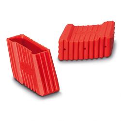Euroline Premium Leiterfuß rot links 64x25mm Paar