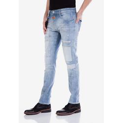 Cipo & Baxx Slim-fit-Jeans mit Aufnäher 30