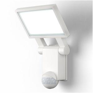 B.K.Licht LED Außen-Wandleuchte, LED Außenstrahler Bewegungsmelder Außenlampe Wandleuchte 4.000K IP44 weiß