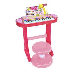 Bontempi Elektronik-Keyboard mit 31 Tasten, inkl. Mikrofon und Hocker