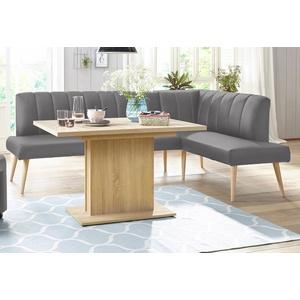 exxpo - sofa fashion Eckbank Costa, Frei im Raum stellbar grau