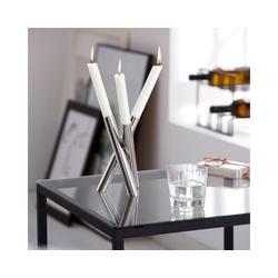 PHILIPPI Kerzenhalter Kerzenhalter PERPLEX, Für drei Tischkerzen, Durchmesser ca. 2 cm (handelsüblich)