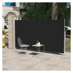 vidaXL Sonnenschirm Terrassenmarkise Seitenmarkise 160 x 300 cm Schwarz