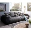 DeLife DELIFE Big-Sofa Violetta, Schwarz 310x135 cm inklusive Kissen Big-Sofa schwarz
