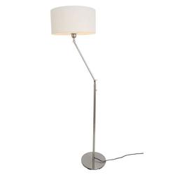 Kiom Stehlampe Kaja FL mit weißem Lampenschirm 164 cm E-27