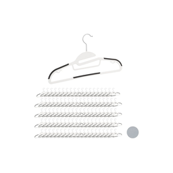 relaxdays Kleiderbügel 100 x Kleiderbügel Anti-Rutsch weiß