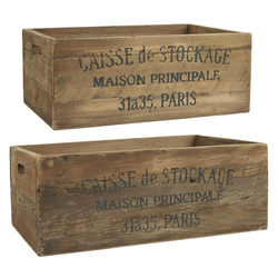 Ib Laursen Holzkiste 2 Holzkisten Alt Holz Kiste Box Holzbox STOCKAGE 2er Kisten Set Laursen 5210 14