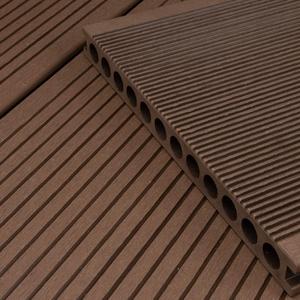 HORI® WPC-Terrassendiele Braun XXL Hohlkammer Diele I Komplettset inkl. 40x60 mm Unterkonstruktion & Clips I Fläche: 8 m2 I 2,90 m Dielenlänge