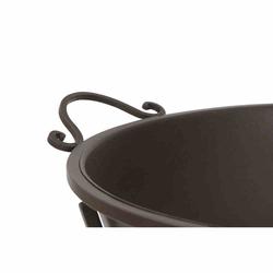 SIENA GARDEN Feuerschale Antik,  Metall pulverbeschichtet, rostbraun, mit klappbarem Fuß, 64,5x53,5x48,5cm