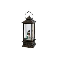 SIGRO Weihnachtsfigur LED-Laterne mit Schneemann