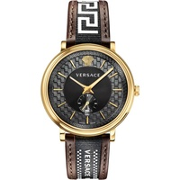 Versace V-Circle Leder 42 mm VEBQ01619