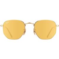 Ray Ban Hexagonal Flat Lenses RB3548N 51mm gold / yellow flash