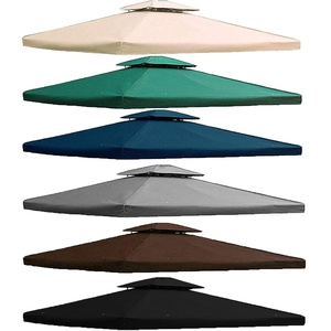 freigarten.de Ersatzdach für Pavillon 3x4 Meter Wasserdicht Material: Panama PCV Soft 370g/m2 extra stark Modell 5 (Schwarz)