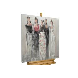 KUNSTLOFT Gemälde Unbekannte Schönheit, handgemaltes Bild auf Leinwand