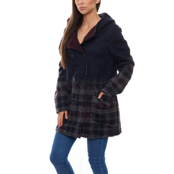 VAUDE Wollmantel VAUDE Outdoor-Jacke stylischer Damen Woll-Mantel Västeras Frühlings-Mantel Navy 36