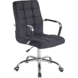 CLP Bürostuhl DELI mit Stoffbezug und hochwertiger Polsterung I Drehstuhl mit höhenverstellbarer Sitzhöhe... schwarz