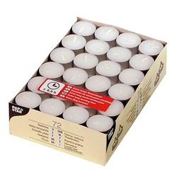 72 PAPSTAR Teelichter weiß