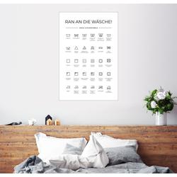 Posterlounge Wandbild, Wasch- & Pflegesymbole 61 cm x 91 cm