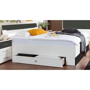 Fresh To Go Schlafzimmer-Set Cheep, mit LED-Beleuchtung und Schubkästen weiß Bettgestell