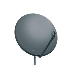 PremiumX PXS100 Satellitenschüssel 100cm Stahl Anthrazit Satellitenantenne SAT Spiegel mit LNB Tragarm und Masthalterung SAT-Antenne