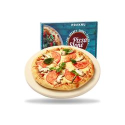 Praknu Backstein Pizzastein Rund 30cm, Cordierit, (1-St), für Backofen und Grill - Rund 30 cm Ø - Für knusprigen Boden - Steinplatte aus Cordierit