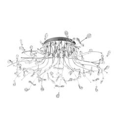 B-Leuchten Crystal LED Deckenleuchte, Ø: 77 cm