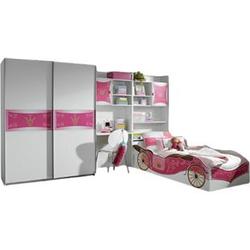 Kinderzimmer Zoe 4-teilig Weiß / Pink