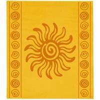 Delindo Lifestyle Tropical Sonne Strandtuch 180 x 200 cm gelb