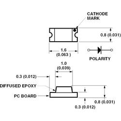Broadcom HSMH-C190 SMD-LED 0603 Rot 17 mcd 170° 20mA 1.8V Tape cut