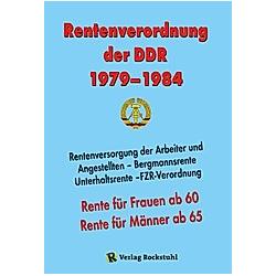Rentenverordnung der DDR 1979-1984 - Buch