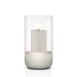 BLOMUS Pure Home Kerzenständer Windlicht CALMA L mit einer Kerze